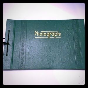 Green Vintage photo album